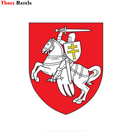 Armed windows online shopping - Three ratels FTC national flag national emblem coat of arms of Belarus window wall auto car sticker decal PVC waterproof