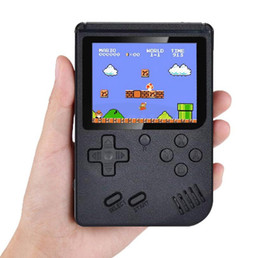 Wholesale player boy online – design Retro Handheld Portable Game Player Kids Boys Girls Video Game Console Host Can Choose Two Players with Gamepad TV OUT