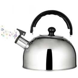 Discount teapot stainless steel kettle 2.5L Lightweight Stainless Steel Kettle Whistling Kettle Camping Teapot Fast Boil Teakettle For Home Outdoor Camping