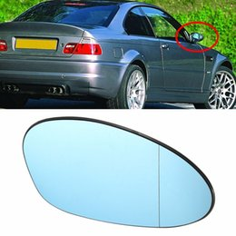 Wholesale Freeshipping Right Driver Side Blue Tinted Heated Wing Door Mirror Glass For BMW M3 E46