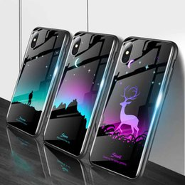 Fluorescence Glasses Australia - Luminous Phone Case For huawei honor 8x cases Night Shine Glass Case For Huawei P20 Lite P 20 Pro NOVA 3E honor 10 Cover Shell free shipping
