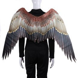 $enCountryForm.capitalKeyWord Australia - Mardi Gras Big Eagle Wings Costumes Non Woven Fabrics dark wings Adult Halloween Carnival Fancy Dress Ball Party SuppliesT2I5329