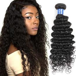 Indian Deep Curl Hair Canada - Indian Deep Curl Human Hair 3 Pcs Indian Deep Wave Hair Weave Natural Color Indian Remy Hair Bundle Deals