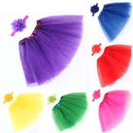 $enCountryForm.capitalKeyWord Australia - Girls Clothes Kids Girls Skirt Toddler Baby Kids Girls Solid Tutu Skirt+Flower Headband Set Party Dance Clothes jupe fille M04