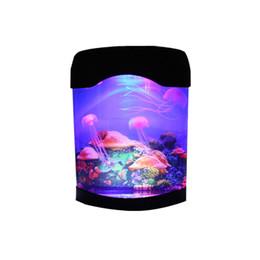 LED Creative Simulation Jellyfish Light Aquarium Night Light Home Decoration Children's Room Table Lamp Gift Decorative Lights on Sale