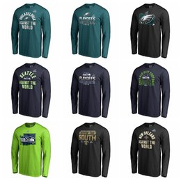 T Shirt Compressed Australia - New Orleans Saints Philadelphia Eagles Seattle Seahawks Pro Line by Fanatics Branded 2018 Playoffs Bound Coin Toss Long Sleeve T-Shirt