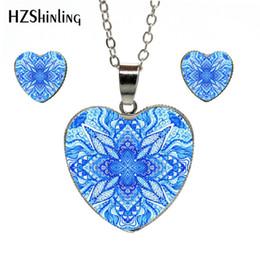 69b742e22 Dot Earrings NZ - 2019 New Jewelry Blue Pattern Ripple Patterns Dot Dome  Glass Cabochon Hand