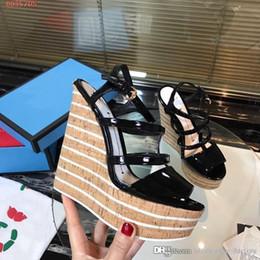 $enCountryForm.capitalKeyWord Australia - Fashionable wedges for women, High platform women patent leather sandals Street style spring summer Super-high heel sandals