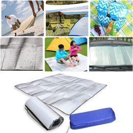Wholesale Camping Camping Hiking Foldable Mat Moistureproof Sleeping Blue Mattress Picnic Dropshipping Aluminum Foil Eva Exercise Mats