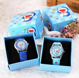 Doraemon Free Gift Australia - Free Shipping 12 Pcs Cartoon Doraemon Kids Girls Boys Children Students Quartz Wrist Watch Very Popular have gift box
