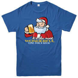 Wholesale Christmas T Shirt Party Wear Santa Beer Xmas Fetive Gift Adults Kids Tee Top jersey Print t shirt