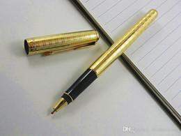 $enCountryForm.capitalKeyWord Australia - Writing metal Sonnet Golden Plate 0.5MM Nib Rollerball Pen