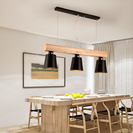 wood ceiling lights Australia - Modern Pendant Lights Wood LED Kitchen Lights LED lamp Dining Room Hanging Lamp Ceiling Lamps Lighting Fixtures for Long Table lights