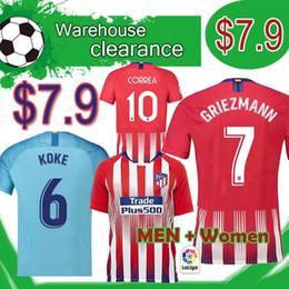 Jersey diego costa online shopping - Liquidation GRIEZMANN Madrid home red Soccer Jersey KOKE Soccer Shirt Customized SAUL DIEGO COSTA Football jerseys men women
