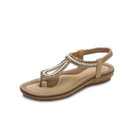 70a158294 Women s Flip Flop Summer Sandal Stylish Nation Style Flat Sandals Flexible  Lady Leisure Vacation Bohemia T-Strap Sandals