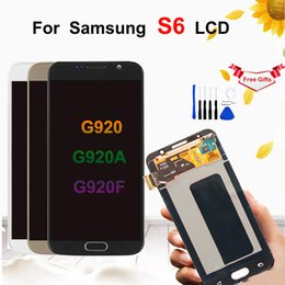 $enCountryForm.capitalKeyWord Australia - For Samsung Galaxy S6 G920 G920i G920F LCD Display Touch Screen Digitizer Replacement with Frame G920F lcd For Samsung S6 Display