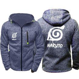 $enCountryForm.capitalKeyWord Australia - Anime Sasuke Cosplay Naruto hoodie Men Sports Wear Men's hoodie Zipper Sweatshirt Male Jacquard Autumn Coat Spring Cardigan hoodie Tracksuit
