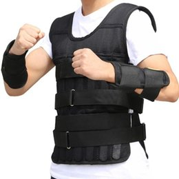 Wholesale weight vests for sale - Group buy 10kg kg kg Loading Weighted Vest For Boxing Training Workout Fitness Equipment Adjustable Waistcoat Jacket Sand Clothing