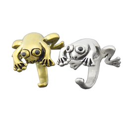 $enCountryForm.capitalKeyWord NZ - Fashion Boho Hippie Frog Rings For Women Prince Frog Toad Metal Wrap Animal Ring Wedding Ring Men Grilfriend Party Gifts Wholesale Lots Bulk