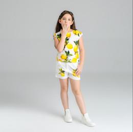 SunShine dreSS online shopping - 2019 Summer Lemon Cute dress New girls summer suit little girl clothes sunshine lovely clothes Lemon printing