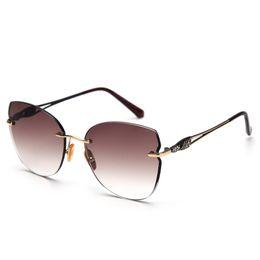 Gradient Color Sunglasses Australia - Vintage Glasses Rimless Sunglasses Women's Big Clear Square Glasses Brand Designer Gradient Sun Glasses Mens Tinted Color FML