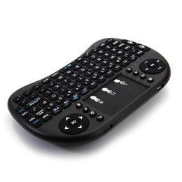 Fast Shipping I8 Mini 2.4 ГГц Беспроводная клавиатура с сенсорной панелью Black One PC Бесплатная доставка из США склад (UPS, FedEx USPS случайным образом) на Распродаже