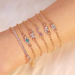 $enCountryForm.capitalKeyWord Australia - Korean Version Of The Small Fresh Fashion A Set Of Six Piece Bracelet Butterfly Leaf Eyes Multilayer Versatile Diamond Bracelet Jewelry