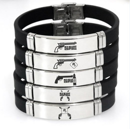 $enCountryForm.capitalKeyWord Australia - Stainless Steel Silica gel Adjustable Bracelet Red Dead Redemption Souvenirs Bracelet Five styles Hot Sell Games Souvenirs