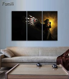 Art Paintings Ideas Australia - 3Pieces set large HD printed oil painting Angel Girl canvas print art home decor idea wall art pictures for living room