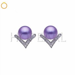 $enCountryForm.capitalKeyWord NZ - earring blank without pearl little V shape stud earrings accessory solid sterling silver zircon jewelry findings