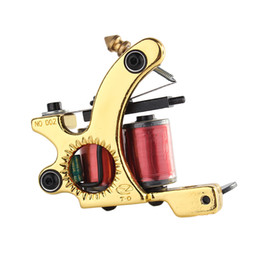 lighting coil UK - Tattoo Machine 10 Wrap Coil Light Weight Tattoo Gun for Beginner Imitating Sunshine Coil Machine