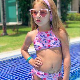 $enCountryForm.capitalKeyWord Australia - Brand 2PCS Summer Kids Baby Girl Flower Swimming Clothing Set Swimwear Cute Summer Ice Cream Print Holiday Bathing Beach