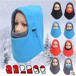 winter fleece face mask NZ - 201911 Warm Full Face Mask Headgear Winter Hat Motorcycle Bicycle Hood Fleece Mask And Neck Coverage Design Masks Keep Warm Protection M343Y