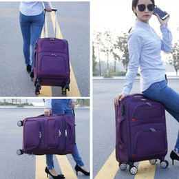 """luggage wheels 2019 - Oxford cloth suitcase,With brake universal wheel 24""""trolley case,22""""Travel Luggage,20""""Boarding box,Studen"""