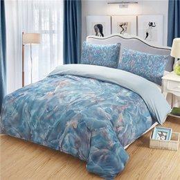 Black Bedding Full Australia - Marble Texture Printing Bedding Set Luxury Comforter Bedding Sets Cotton Bed Sheet Pillow Cases Queen Twin Full Duvet Cover Set