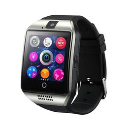 $enCountryForm.capitalKeyWord Australia - Q18 fitness watch pedometer fitness tracker Bluetooth smart watch support SIM card TF card smart phone watch with camera for Samsung Xiaomi.