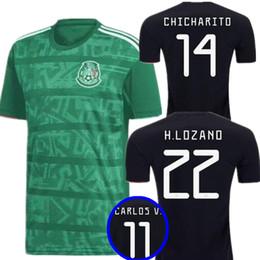 379e7f3b30d 2020 Mexico GOLD CUP Black KIT Soccer Jerseys 2018 World Cup Home Away  CHICHARITO Camisetas de futbol H.LOZANO G.DOS SANTOS Shirts