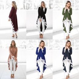 Woman dress clothes lace online shopping - Autumn Spring Clothes Long Sleeve Irregularity Hemline Sexy White Lace Dress Women Fashion Solid Color Cotton Soft Clothing my hh