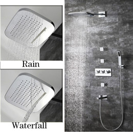 $enCountryForm.capitalKeyWord Australia - 4 Way Shower Mixer 5 Water Flow Concealed Wall Mounted Shower Panel 2 Function Showerhead Rainfall Waterfall shower with Hand Spray Faucet