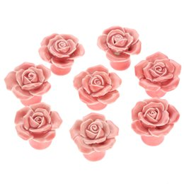 $enCountryForm.capitalKeyWord NZ - kitchen pulls 8Pcs Furniture Ceramic Cabinet Knobs and Handles Door Cupboard Drawer Kitchen Pull Handles Furniture Fittings Pink Rose