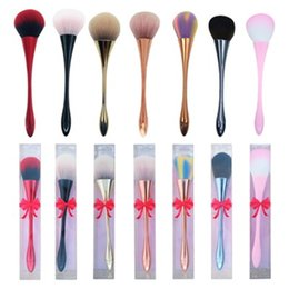 single eye shadow brushes Australia - Small Waist Makeup Brushes Cosmetic Foundation Brush Eye Shadow Face Powder Goblet Blush Soft Single Make Up Brushes With Box R0397