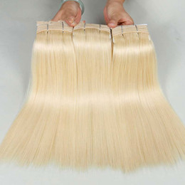 99j Purple Hair Australia - CE certificated Grade 9A thick ends blonde 99J Purple Yellow Blue red 613 color brazilian virgin remy human hair weaving
