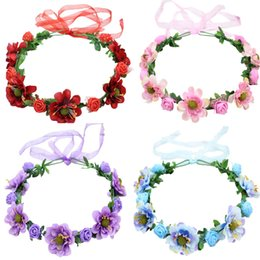 $enCountryForm.capitalKeyWord Australia - new hair accessories Bohemian simulation flower hair band bride head flower photo headdress seaside tourism wreath