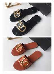 Best Flats Australia - 2019 new High quality Best women's flat Luxury shoes and healthy Brand casual wild summer sandal women