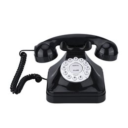 vintage office desks UK - Vintage Telephone Multi Function Plastic Home Telephone Retro Antique Phone Wired Landline Phone Office Home Telephone Desk Deco Other Home