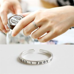Greek Gifts Wholesale Australia - Genuine 925 Sterling Silver Finger Ring Fine Jewelry Classical Greek Alphabet Opening Adjustable Rings for Women YMR261