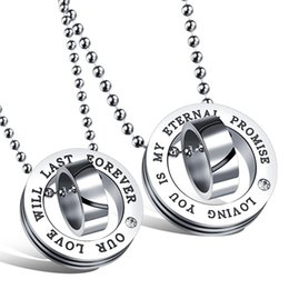 "$enCountryForm.capitalKeyWord Australia - ""Our Love Will Last Forever"" Pendant Necklace Stainless Steel Romantic Unique Designer Accessories Women Men Lovely Couple Necklace Jewelry"