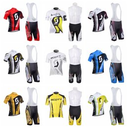 $enCountryForm.capitalKeyWord Australia - SCOTT team Cycling Jersey Bib Shorts Sets Bike clothes Suit Mens Short Sleeves Breathable Cycling Clothing Q62210