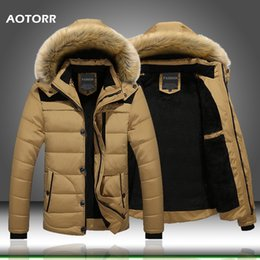 snow goose parka Australia - 2019 Fur Collar Hooded Men Winter Jacket Men Coat Snow Parka Down Jacket Outerwear Thick Thermal Men Warm Wool Liner Coat M-6XL S191128