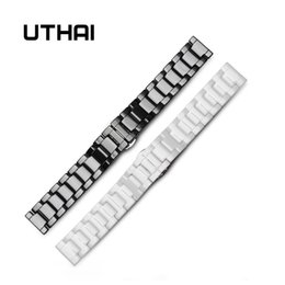 quality 22mm bracelet Australia - UTHAI C01 Ceramic 20mm watch strap 22mm watch band high quality Watchbands Watches Cheap Watchbands